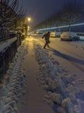Neve di primo mattino Immagini Stock