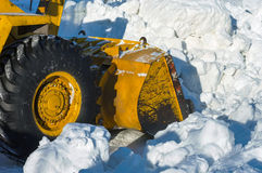 Neve di schiarimento Fotografie Stock