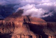 Neve di tramonto del grande canyon Fotografia Stock Libera da Diritti