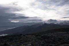 Neve di vista superiore di Kilimanjaro Fotografia Stock