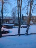 Neve do acordo na vizinhança fotografia de stock