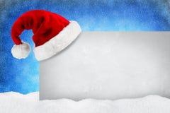 Neve do azul do cartão do XMAS fotos de stock
