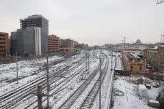 Neve do engodo do centrale da Bolonha imagens de stock royalty free