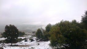A neve do montain fotografia de stock royalty free