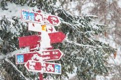 Neve dos trajetos do sinal Imagem de Stock