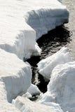 Neve e água Foto de Stock Royalty Free