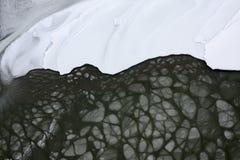 Neve e acqua ghiacciata Immagine Stock