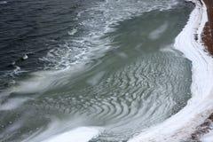 Neve e acqua ghiacciata Immagini Stock