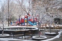 Neve e brinquedo Fotografia de Stock Royalty Free