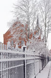 Neve e chiesa Fotografia Stock