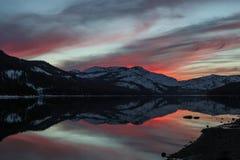 Neve e fogo Imagens de Stock Royalty Free
