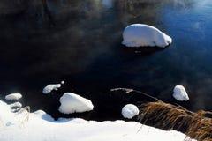 A neve e a geada Foto de Stock