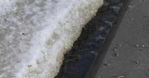 Neve e gelo de derretimento video estoque