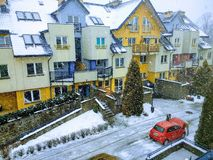Neve e inverno da rua da cidade Imagem de Stock Royalty Free