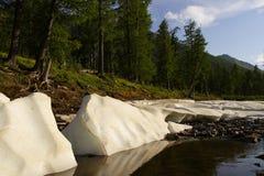 Neve e lago. Fotos de Stock Royalty Free