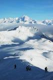 Neve e montagna Fotografia Stock