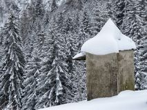 Neve e montanha Imagem de Stock