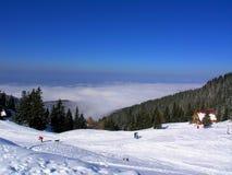 Neve e montanhas Fotografia de Stock