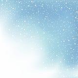 Neve e nuvola di giorno di inverno Fotografie Stock