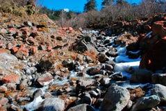 Neve e pietre Fotografie Stock Libere da Diritti
