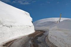 Neve e rua Imagem de Stock