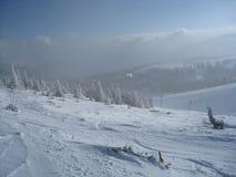 Neve e sole immagine stock