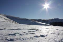 Neve e sole in Pyrenees Immagine Stock Libera da Diritti