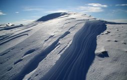 Neve e sombras Foto de Stock Royalty Free