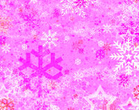 Neve e stella Fotografia Stock
