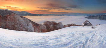 Neve e vapore Fotografie Stock
