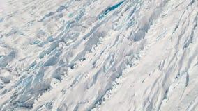 Neve ed acqua del ghiaccio di Juneau Alaska del ghiacciaio di Mendenhall fotografie stock