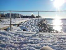 Neve ed inverno Scenary in Svezia fotografia stock