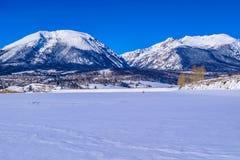 Neve em Breckenridge, Colorado imagens de stock royalty free
