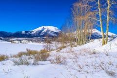 Neve em Breckenridge, Colorado fotos de stock