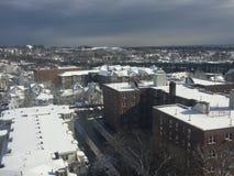 Neve em Connecticut Foto de Stock Royalty Free