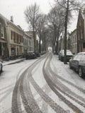 Neve em Middelharnis Fotos de Stock
