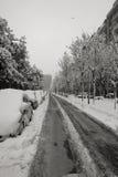 Neve em Milão, Italy Imagens de Stock