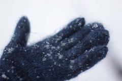 Neve em minha mão Fotografia de Stock Royalty Free