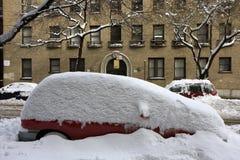 Neve em New York Imagens de Stock Royalty Free