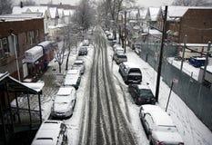 Neve em New York Imagens de Stock