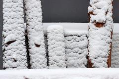 Neve em placas Imagens de Stock Royalty Free