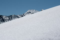 Neve em Pyrenees Imagens de Stock Royalty Free