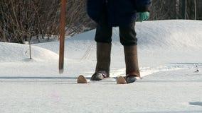 Neve em Rússia no inverno filme