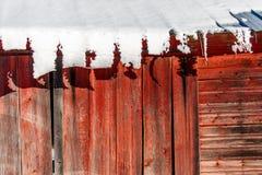 Neve em Tin Roof Imagens de Stock Royalty Free