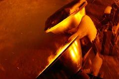 A neve está caindo no projetor Foto de Stock Royalty Free