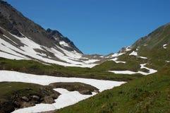 Neve in estate Immagini Stock