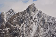 Neve fresca sul Taschhorn e sui DOM Immagine Stock Libera da Diritti