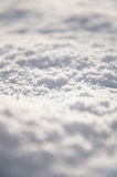 Neve fresca sulla terra Fotografia Stock