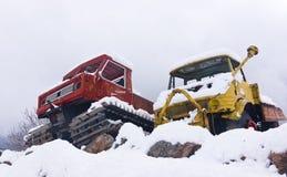 Neve-gatti d'annata Fotografia Stock Libera da Diritti