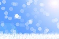 Neve leggera su fondo blu Fotografia Stock Libera da Diritti